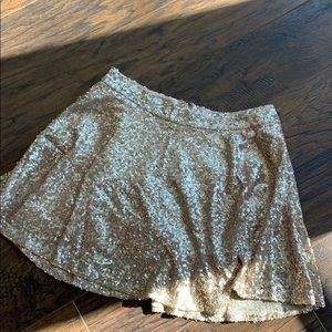 Bethany Mota Pink/Gold Skirt